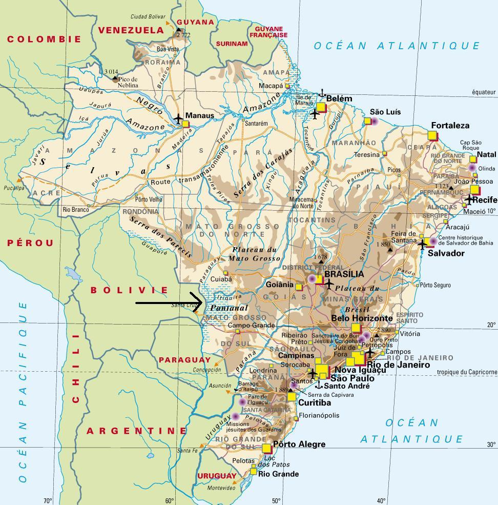 Carte Amerique Du Sud Pantanal.Pantanal